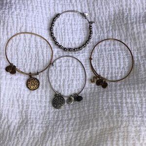 Alex & Ani 4 Bracelet Bundle